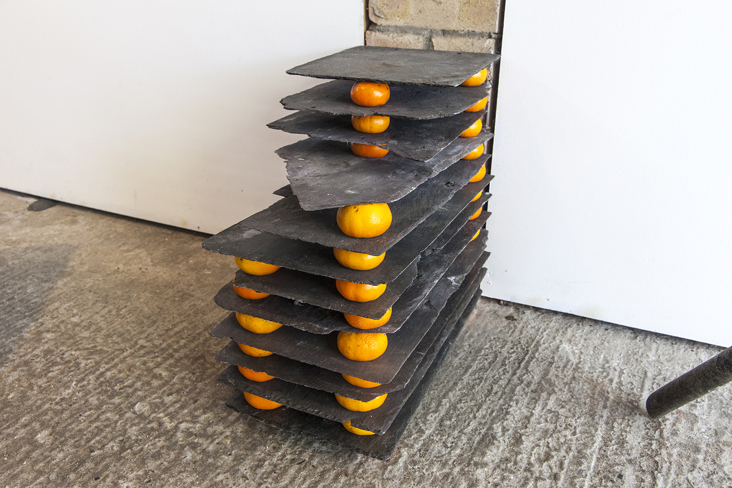 Maquette for Multi-Storey Commune — Slate and tangerines, 2019.