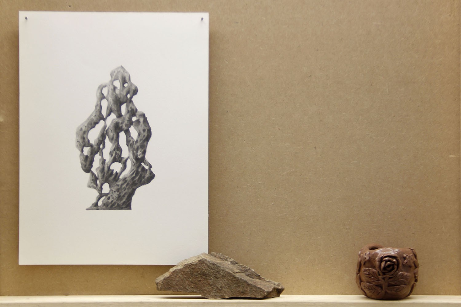 Imaginary Standing Stone — Pencil on paper
